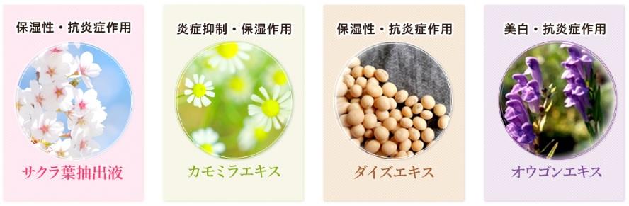 イビサクリームの植物成分
